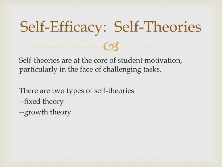 Self-Efficacy:  Self-Theories