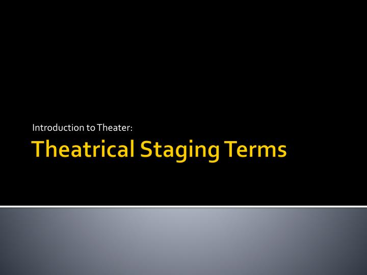 introduction to theater n.
