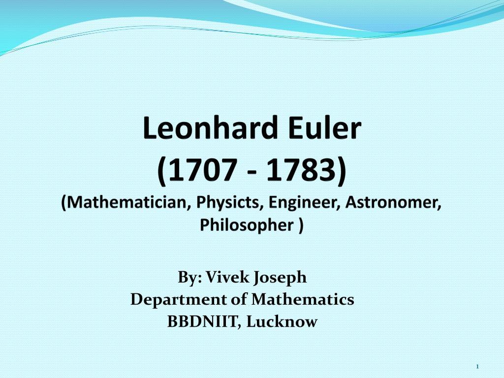 leonhard euler education background