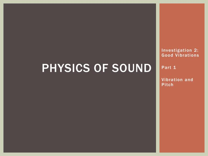 physics of sound n.