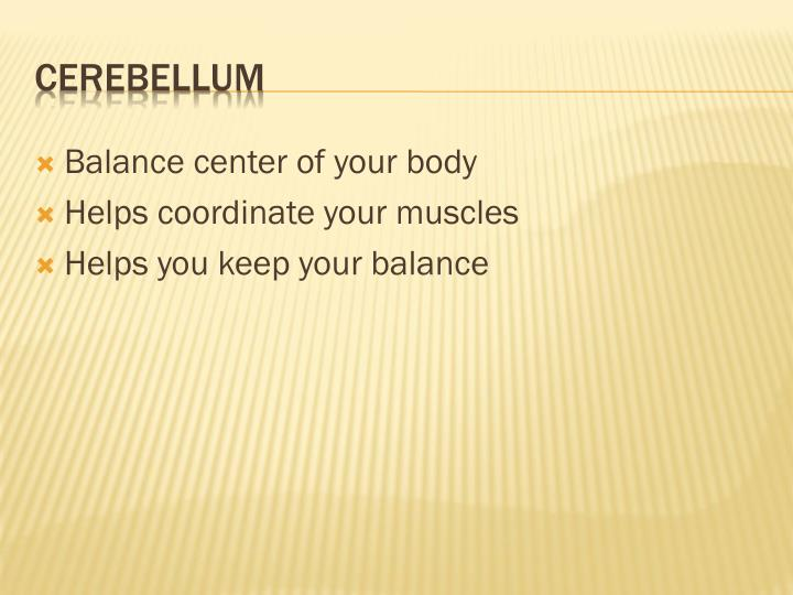 Balance center of your body