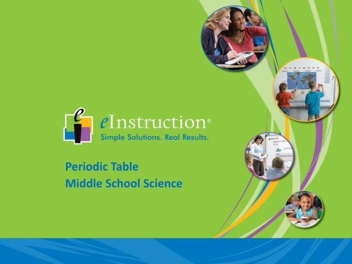 PPT - Periodic Table Middle School Science PowerPoint