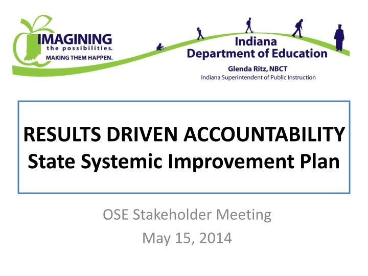 results driven accountability state systemic improvement plan n.