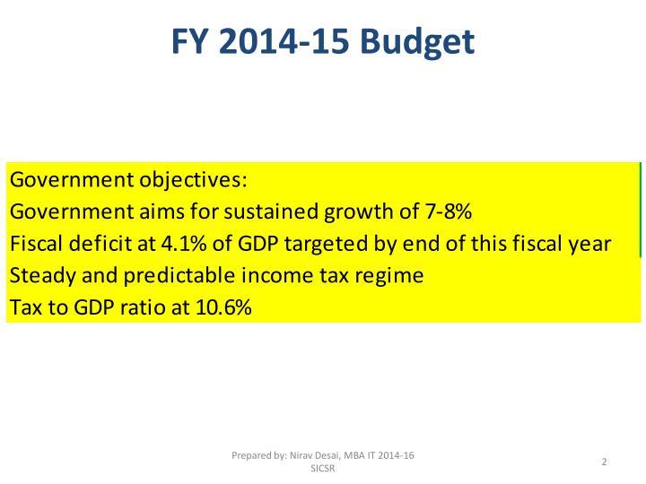 Fy 2014 15 budget