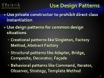 use design patterns