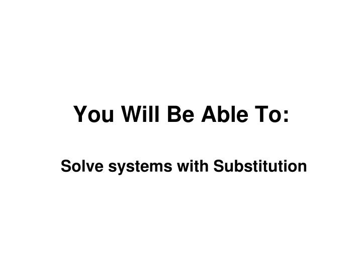 you will be able to n.