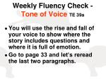 weekly fluency check tone of voice te 39a