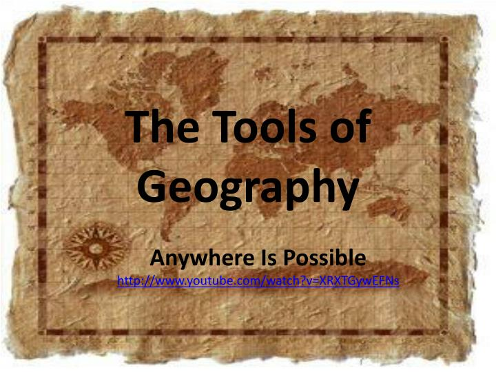 the tools of geography n.