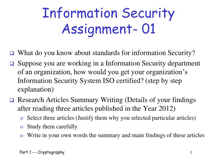 information security assignment 01 n.