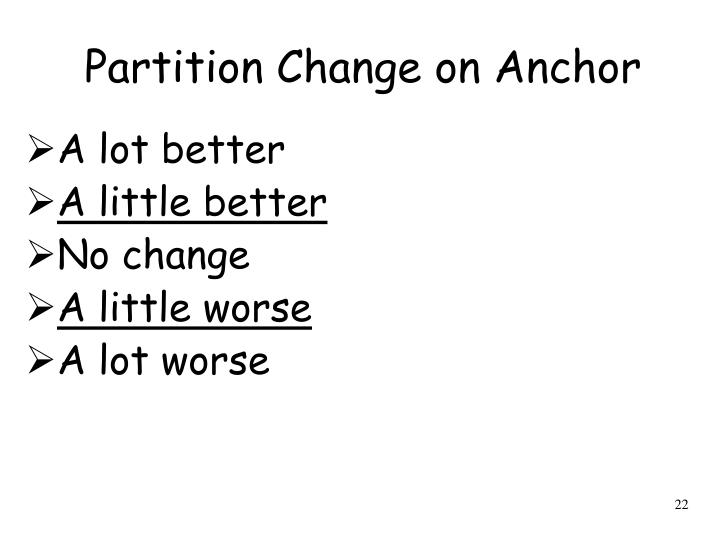 Partition Change on Anchor