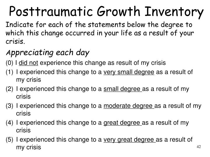 Posttraumatic Growth Inventory