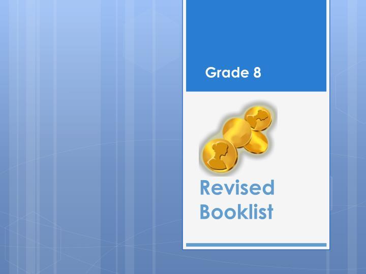 Revised Booklist