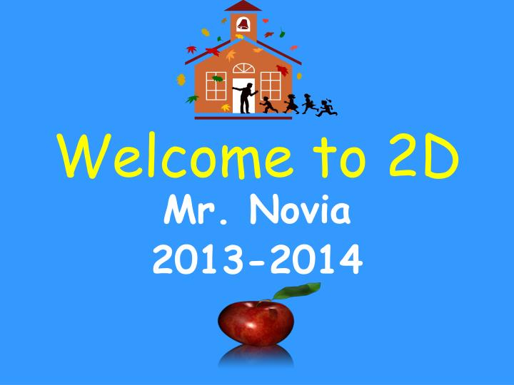 welcome to 2d n.