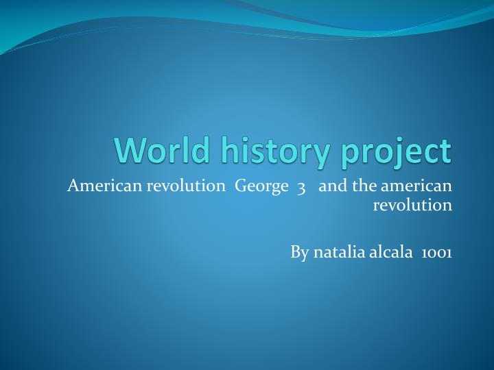 world history project n.