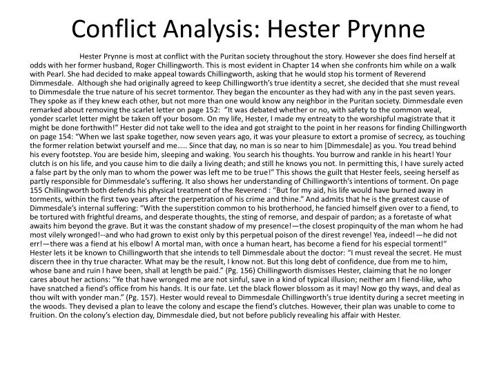 Conflict analysis hester prynne