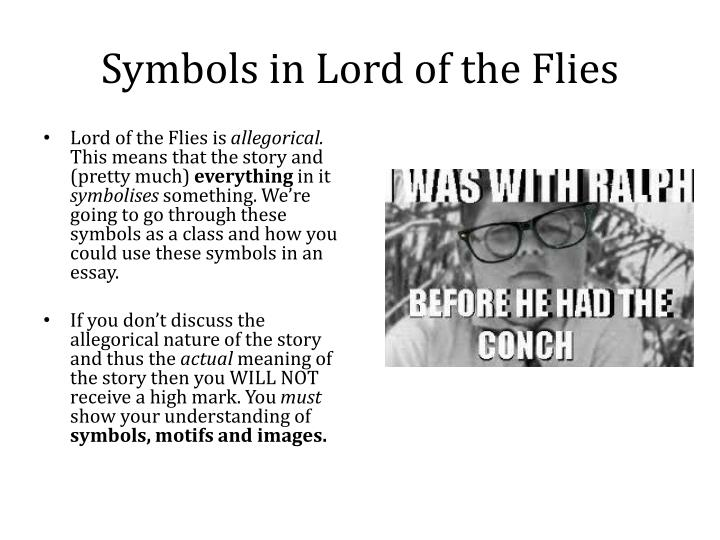 lord of the flies beast symbolism essay Symbolism is, without doubt, a major aspect of william golding's enduring classic, lord of the flies, helping readers gain a better understanding of his in this essay, i will be discussing five of the more important symbols, specifically the jungle, the beast, the conch, the face paintings, and the hunt.