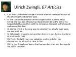 ulrich zwingli 67 articles