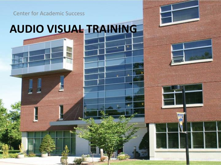 audio visual training n.