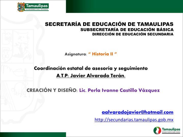 SECRETARÍA DE EDUCACIÓN DE TAMAULIPAS