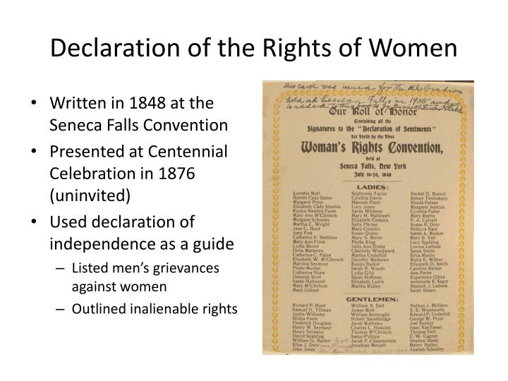 Declaration of the Rights of Women
