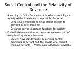 social control and the relativity of deviance1