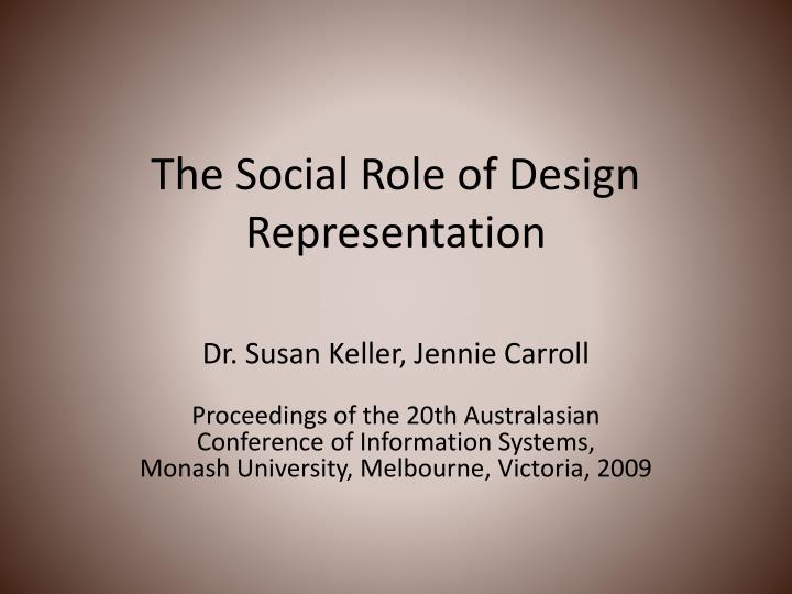 the social role of design representation n.