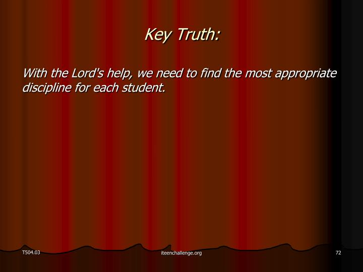 Key Truth: