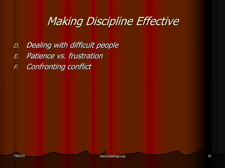 Making Discipline Effective