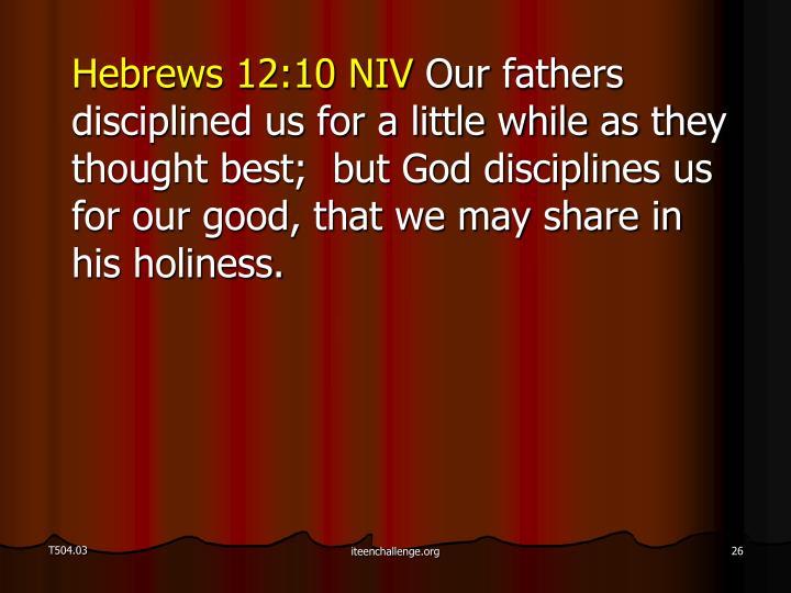 Hebrews 12:10