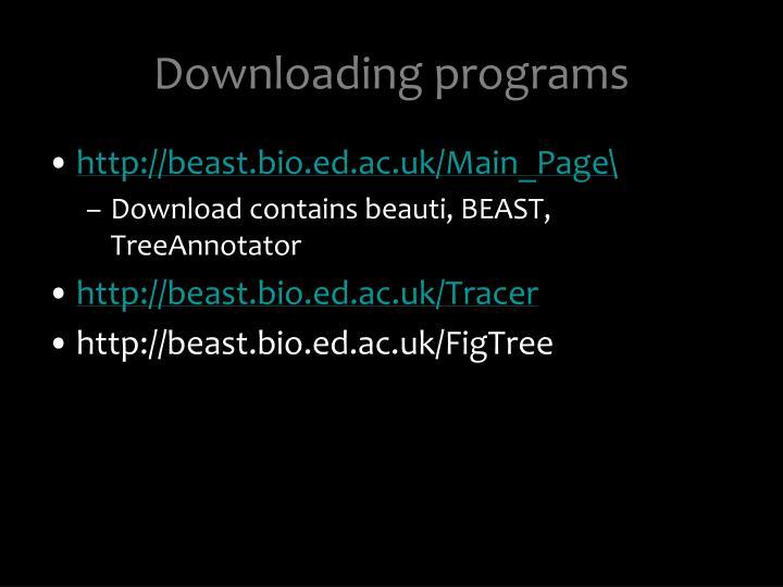 Downloading programs
