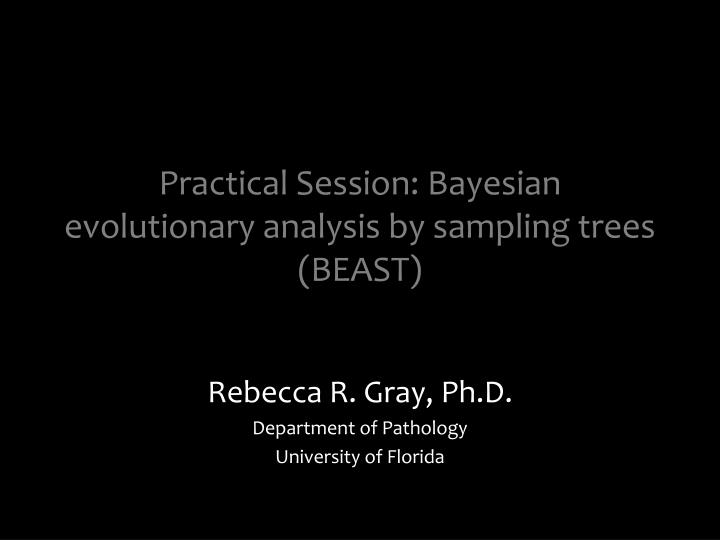 Practical session bayesian evolutionary analysis by sampling trees beast