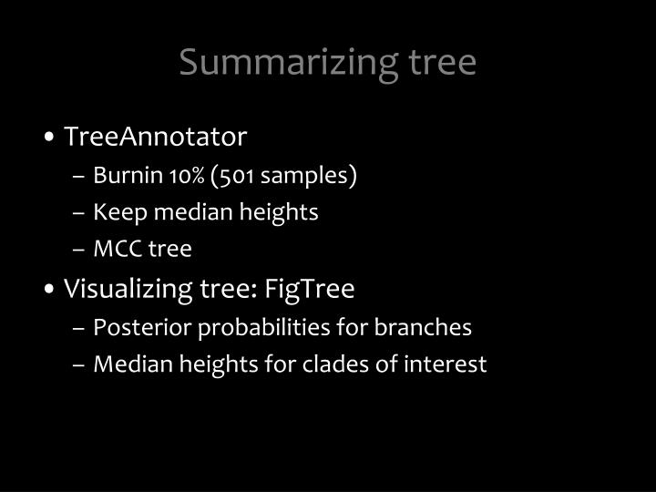 Summarizing tree