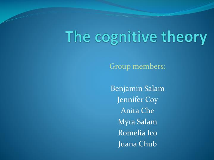 the cognitive theory n.