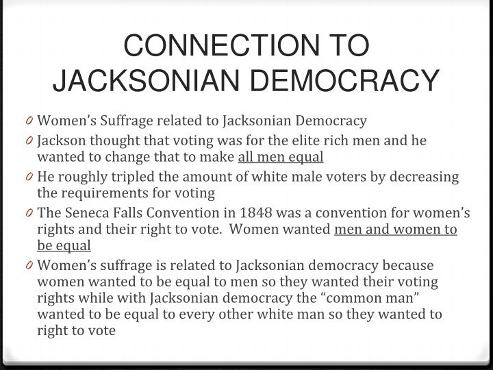 a comparison of ideas between the jacksonian democrats and the populists Jeffersonian & jacksonian democracy comparison questions political to what extent was universal white manhood suffrage achieved which citizens were considered eligible for office holding.