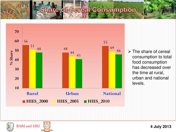 Share of Cereal Consumption