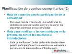 planificaci n de eventos comunitarios 2