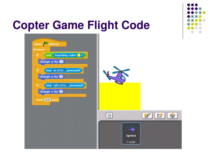 Copter game flight code