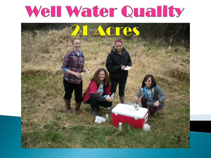 well water q uality 21 acres n.