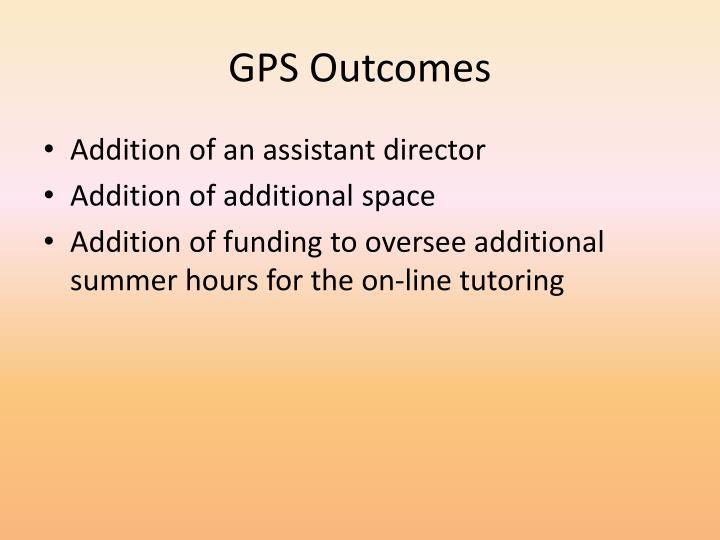 GPS Outcomes