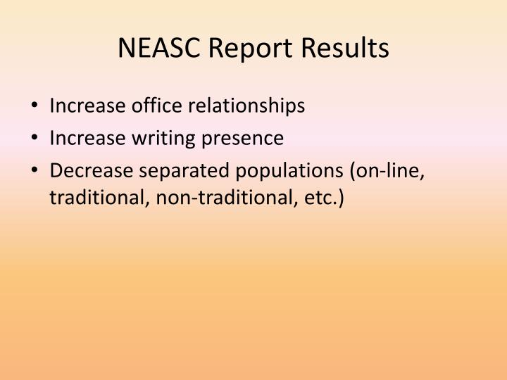 NEASC Report Results