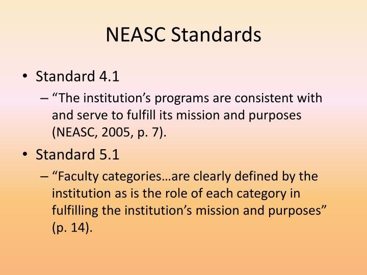 NEASC Standards