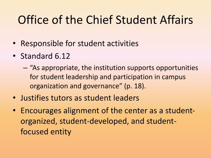 Office of the Chief Student Affairs