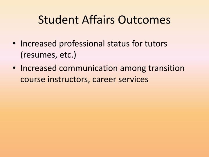 Student Affairs Outcomes