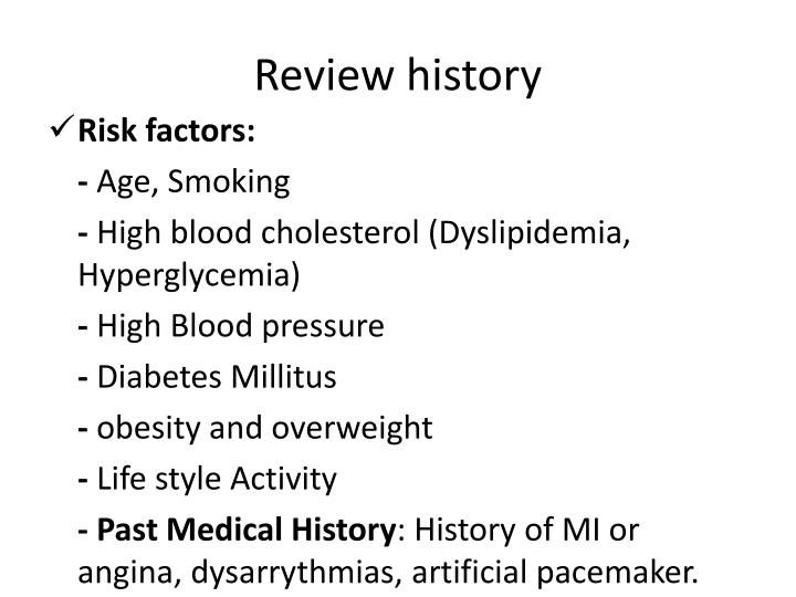 Review history