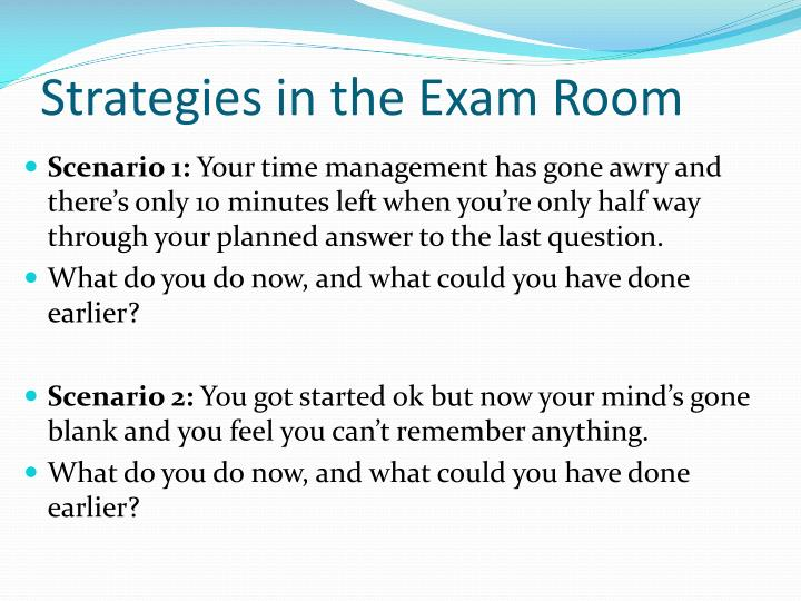 Strategies in the Exam Room