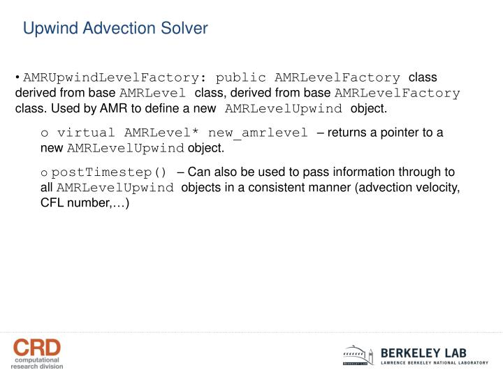 Upwind Advection Solver