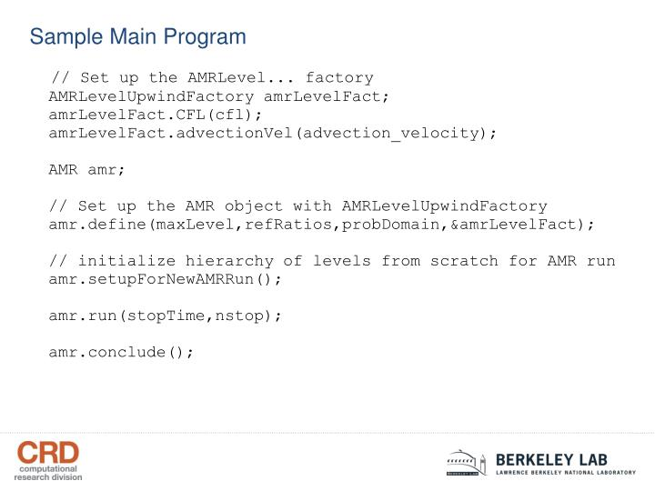 Sample Main Program