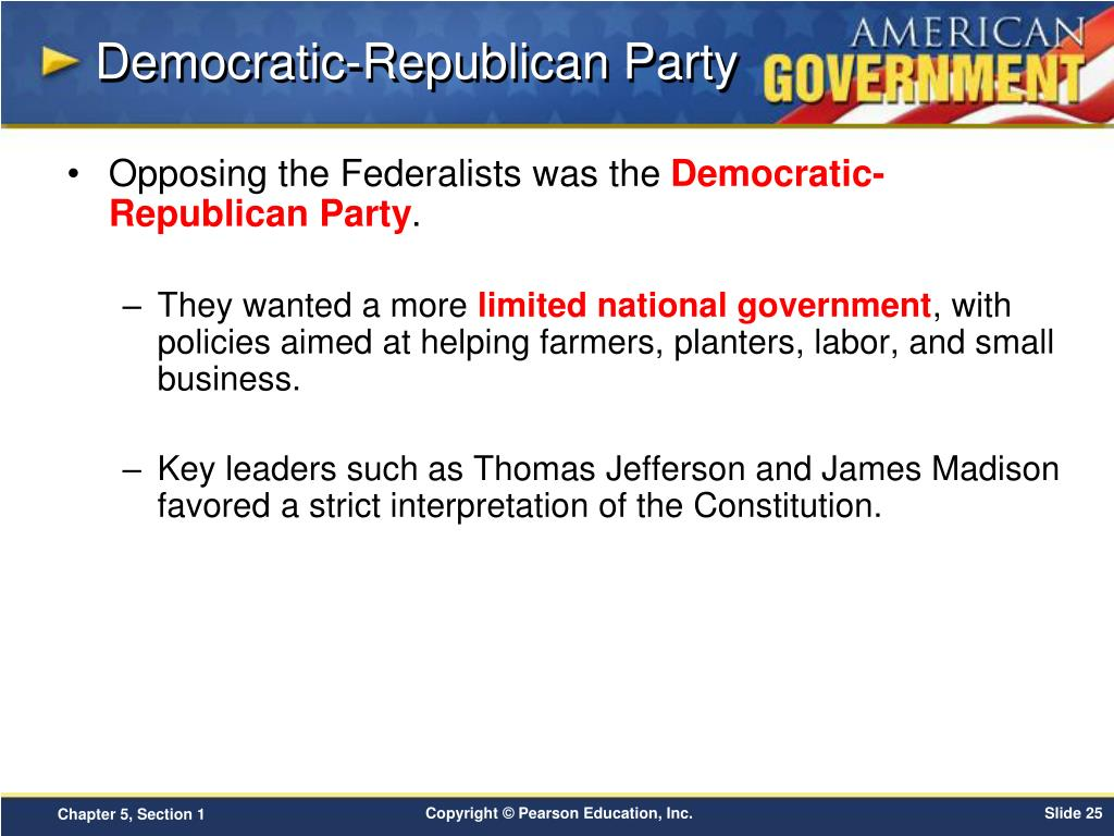 PPT - Chapter 5: Political Parties Section 1 PowerPoint ...