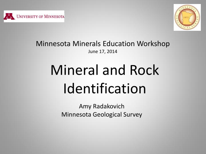 mineral and rock identification n.